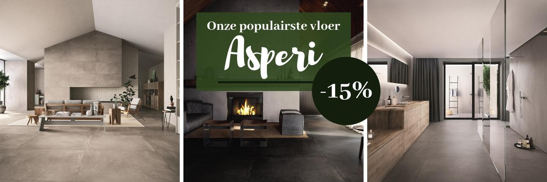 Waarom de Asperi onze meeste populaire vloer is. Lees het in onze nieuwste blog.  - Koop deze betonlook tegels nu met 15% korting.