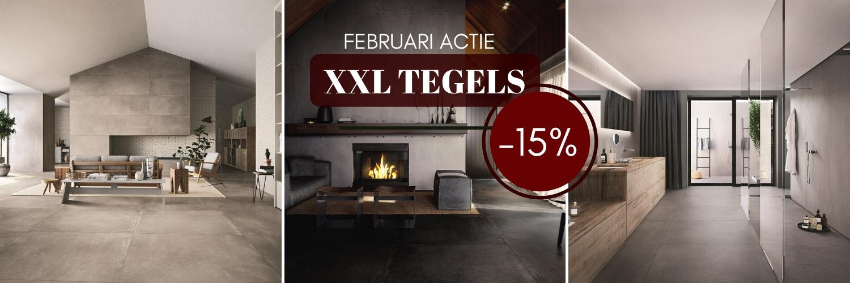 XXL Tegels worden steeds populairder.  - Tijdens de hele maand koop je XXL tegels met 15% korting