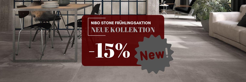 Frühlingsaktion beim Nibo Stone - Im Monat März bekommen Sie 15% Rabatt auf die gesamte neue Kollektion an Fußböden >>
