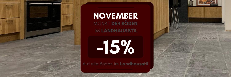November: Monat der Böden im Landhausstil  - 15% Rabatt auf die gesamte Kollektion, klicken Sie hier>>