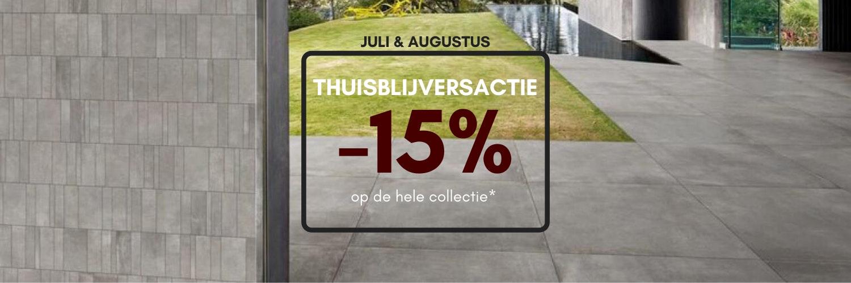Thuisblijversactie - 15% korting op de hele collectie van Nibo Stone*